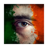 Flag On Face Premium Giclee Print by igor stevanovic