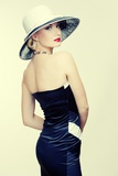 Retro Woman In Hat Posters by NejroN Photo