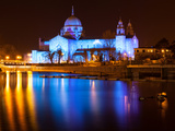 Galway Cathedral Lit Up Blue Photographic Print by  rihardzz