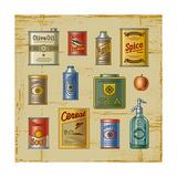 Retro Grocery Set Kunstdrucke von Oleg Iatsun