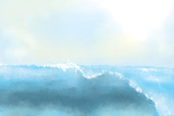 Painting Of A Great Sea Wave Prints by  stari