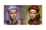 Two Female Elven Print by Atelier Sommerland
