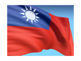 Flag Of Taiwan Poster by  bioraven