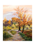 Autumn Landscape Art by  balaikin2009