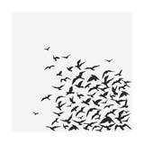 A Birds' Flock Art by  kusuriuri