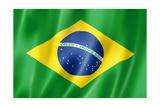 Brazilian Flag Poster by  daboost