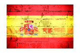 Spain Flag Poster by  badmanproduction