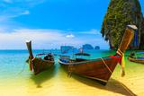 Travel Landscape, Beach With Blue Water And Sky At Summer Poster von  SergWSQ