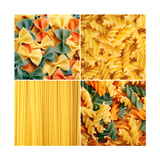 Pasta Collage Prints by  igabriela