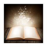 Open Magic Book Prints by  egal