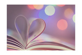Book With Heart Prints by  egal