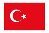 Flag Of Turkey Print by  Alessandro0770