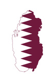 Qatar Flag On Map Posters by  Speedfighter