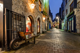 Old City Street At Night Photographic Print by  rihardzz