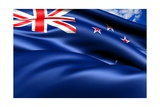 Flag Of New Zealand Prints by  Yuinai