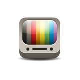 Tv Set Icon Print by  YasnaTen