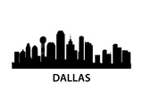 Skyline Dallas Print by  unkreatives