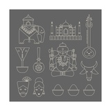 Indian Icons Prints by vector pro