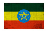 Ethiopian Flag Plakater af igor stevanovic