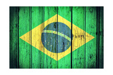 Brasil Flag Pôsters por  badmanproduction