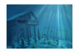 Undersea Ruins Poster by  AlienCat