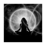 Moon Meditation Print by  Detelina