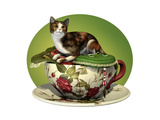 Cat N Cup Calico Prints by Atelier Sommerland