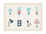 Lamps Print by vector pro