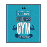 Fitness Gym Design Premium Giclee Print by  MiloArt