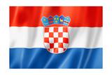 Croatian Flag Posters by  daboost