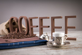 Turkish Coffee In Front Of Coffee Letters Photographic Print by  Uwphotographer