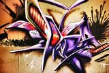 Amazing Abstract Graffiti Tag Fotografisk trykk av  sammyc