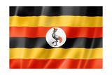 Uganda Flag Posters af daboost