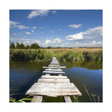 Wooden Bridge Poster by  pavel_klimenko