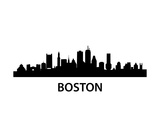Skyline Boston Prints by  unkreatives