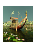Egyptian Barge Art by Atelier Sommerland