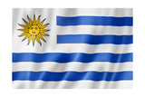 Uruguaian Flag Prints by  daboost