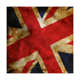 Grunge Uk Flag Prints by Graphic Design Resources