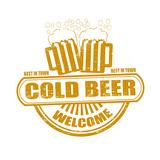 Cold Beer Stamp Prints by  radubalint