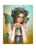 Butterfly Girl Poster by Atelier Sommerland