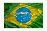 Brasil Flag Art by  IvicaNS