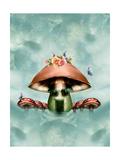 Mushroom House Lámina por  justdd