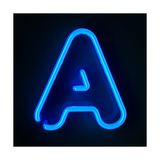 Neon Sign Letter A Premium Giclee Print by  badboo