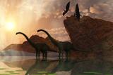 Dinosaur Dawn Poster von Corey Ford