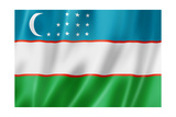 Uzbekistan Flag Posters by  daboost