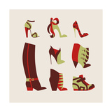 Woman Shoes Prints by  yemelianova
