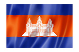 Cambodian Flag Prints by  daboost