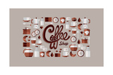 Coffee Shop Icons Prints by  cienpies
