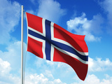 Norwegian Flag Photographic Print by  laviana