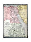 Old Karte von Ägypten Kunstdrucke von  Tektite